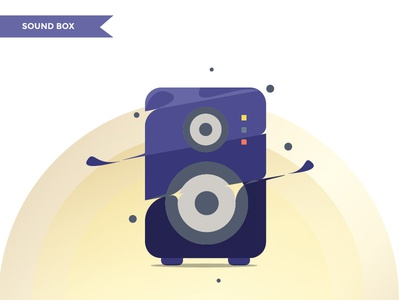 sound box flat minimal branding logo flat  design icon vector illustration design graphic  design