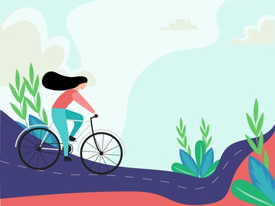 girl cycling vector illustration app ui ux web vector flat  design illustrations girl cycling vector illustration girl cycling vector illustration art illustration design graphic  design