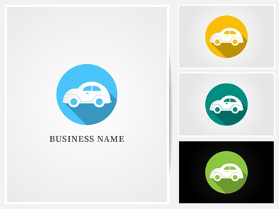 car logo typography flat web brand branding icon flat  design logo vector illustration graphic  design design