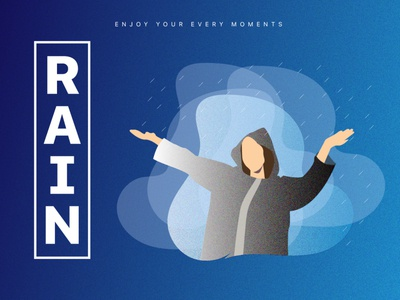RAIN railway grik in rain grik in rain rainy rainbow typography web branding icon flat  design logo vector graphic  design illustration design