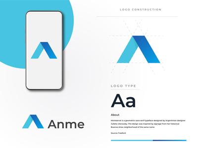 Letter A logo-mark branding design brand identity branding icon vector logo flat  design logotype letter logo letter a logo design illustration graphic  design letter a