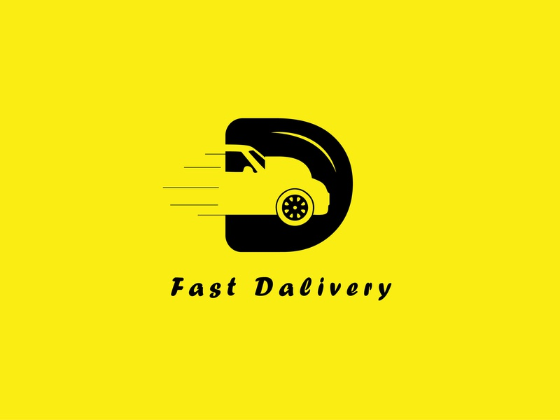 Fast Delivery d monogram d mark car character brand flat vector flat  design graphic  design design icon logodesign fast delivery fast delivery logo