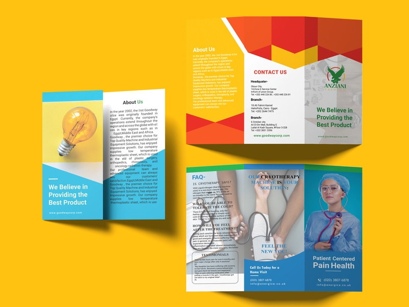 Trifold brochure brochure business trifold doctor trifold post card design bifold design bifold typography graphic  design design trifold brochure brochure design