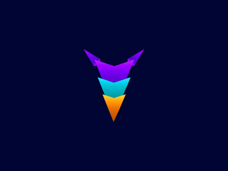 Gradient Logo Mark blue game gaming gaming app clean vector photoshop ai logos gradient logo inspiration gradient blue background logo design logo black background