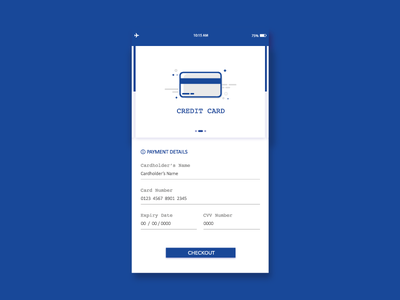 Credit Card Checkout, Daily UI #002 dailyui webdesign userexperience userinteraction mobile