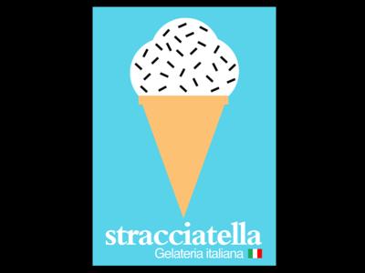 DAY 80. logo poster design graphic designer united kingdom london italian food new opening shop icecream italy typography design graphic design
