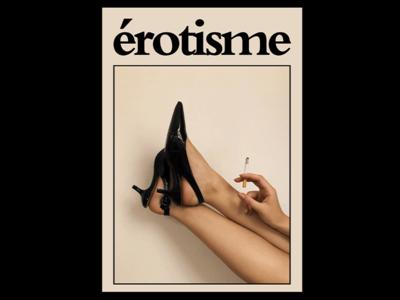 DAY 81. artdirection photo poster erotisme erotic woman vintage photography graphic designer london poster design typography graphic design