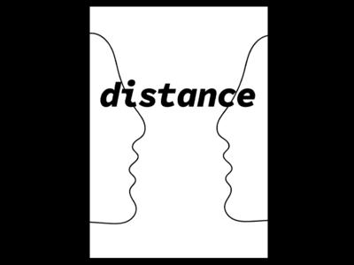 DAY 82. vector designer distance poster illustration london graphic designer typography poster design united kingdom graphic design