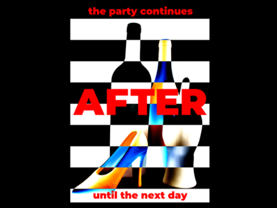 DAY 95. design poster illustration poster design graphic designer graphic design london after party party event photography photoshop typography