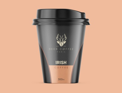 DEER COFFEE Logo and cup concept