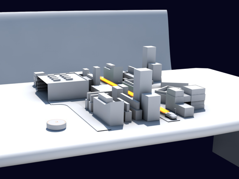City Model for Reevo AR Autonomous Car skyscraper house city auto parking augmented reality rendering autonomous autonomous car driving car cinema4d cinema 3d