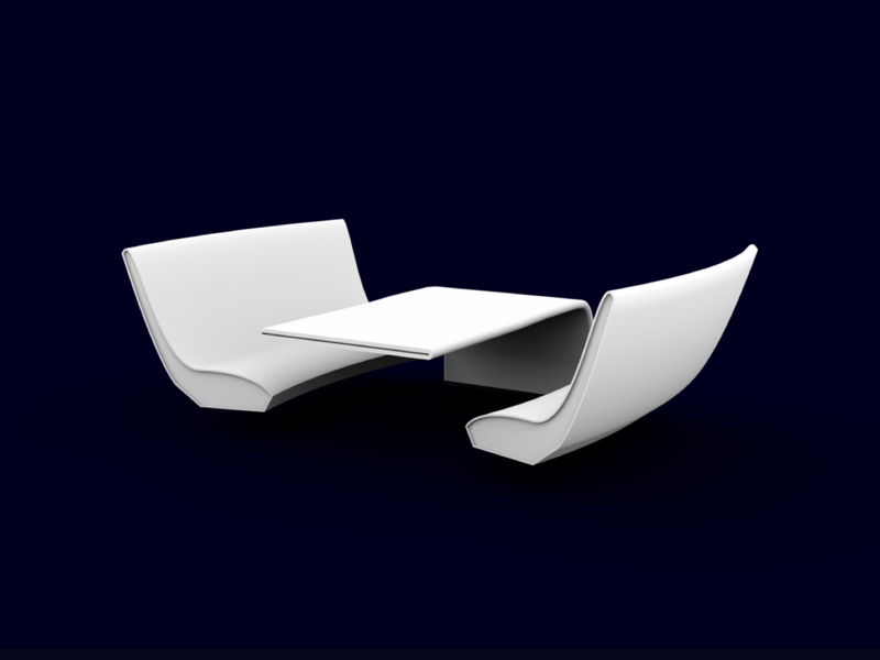 Seat Rendering for Reevo AR Autonomous Car Concept auto driving autonomous interior car rendering 3d table seats