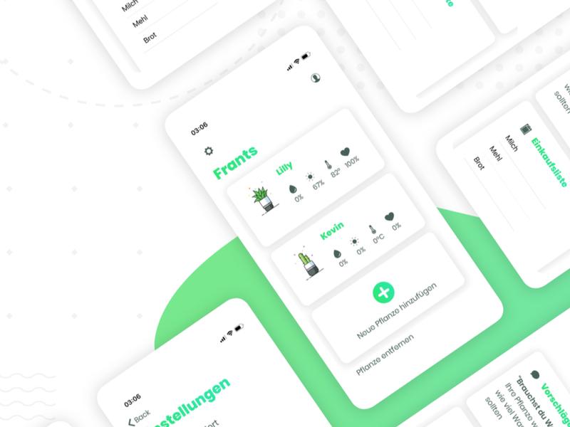 Florina Plant App botanic illustraion website flowers plants uiux mobile app green interface ui app design app flower plant