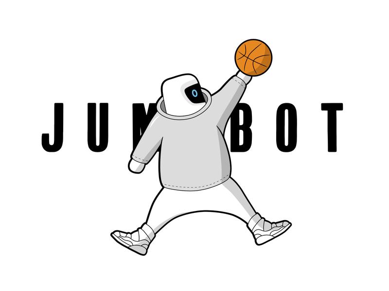 Jumpbot, Jumpbot, Jumpbot just jumped over Yeezy logo vector illustration future drake yeezy jordans jordan robot bot ballin basketball jumpman