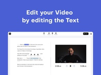 Type Studio on Product Hunt ux web interface ui video editing transcription transcript subtitle subtitles text based editing video