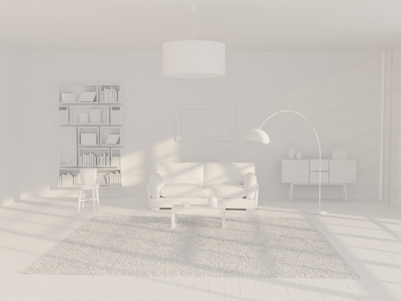 Living Room Couch 3D Rendering 3d model living book table carpet lamp shelf rendering 3d couch living room livingroom