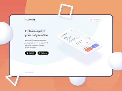 Weyond Microlearning App Landingpage II