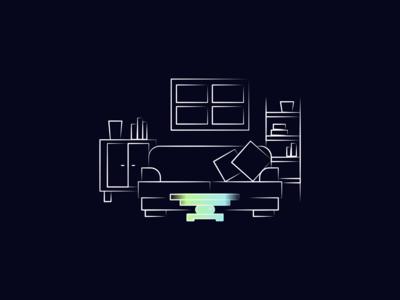 Living Room Illustration for Reevo AR Autonomous Car Concept