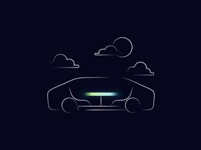 Car Illustration for Reevo AR Autonomous Car Concept