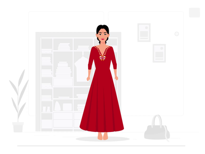 Customize Clothing Animation vendors branding concept design vector art duik bassel character rigging character animation character design motion graphics customization clothes adobe illustrator ui boutiques illustration 2d animation animation aftereffects