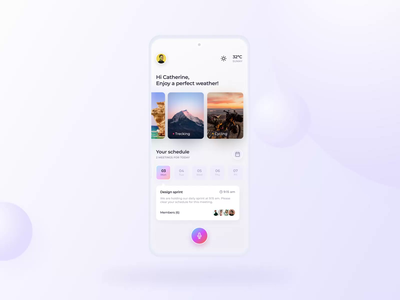 Personal Assistant soundwave intelligent product design ux ui colors helper branding motion aftereffects animation personal assistant application design places interface artificial intelligence ui design interaction animation voice assistant user experience