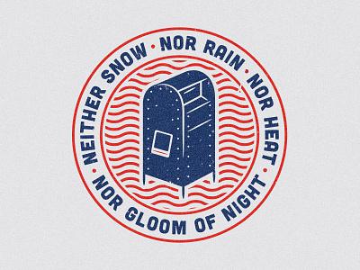 Mailbox post office tshirt illustration apparel carrier mailman postal
