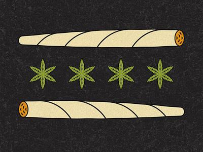 Chicago Joint Flag marijuana leaf smoke flag cannabis weed joint