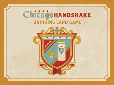 Chicago Handshake Drinking Card Game dive bar drinking game game malort old style liquor beer chicago chicago handshake branding logo