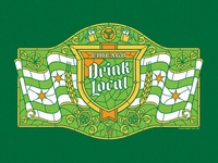Drink Local Stained Glass