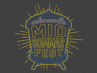 Andersonville Midsommarfest T-Shirt water tank summer street fest chicago midsommarfest andersonville