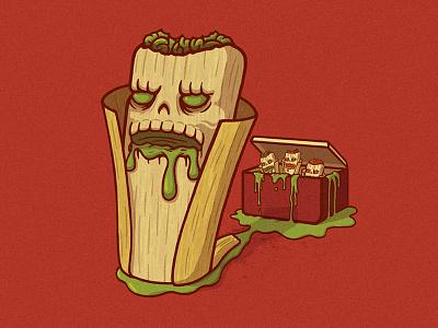 Killer Tamales illustration creepy food chicago zombie creature monster