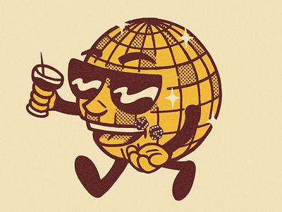 Disco Dude disco ball disco funky retro illustration character design character