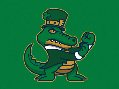 Chance the Scrapper alligator character mascot illustration fightin irish notre dame gator chance the snapper