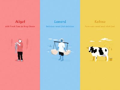 Lovely Farm Feeling 活版印刷 ux 商标 美丽 设计 接口 手绘 插图