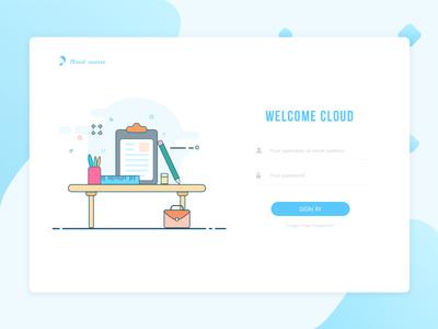 Education Login Interface 插图 ux 美丽 商标 活版印刷 手绘 设计 接口