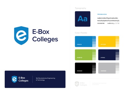 Brand Guide - EBox Colleges affiliate education university college logo design branding