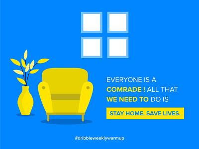 Stay Home. Save Lives. proximanova typography dribbbleweeklywarmup