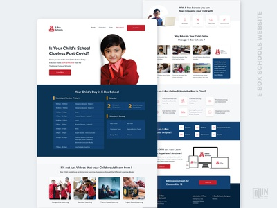 E-Box Schools Website - Home Page elearning educational education online school online education websites ui branding design school website schools website design