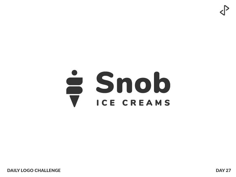 Day 27 - Snob Icecream by Collin on Dribbble