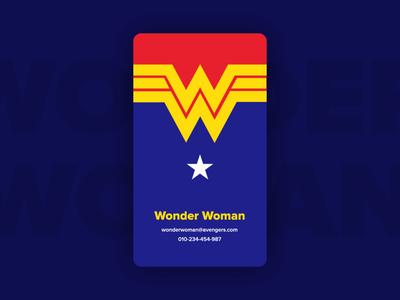 Wonder Woman - Business Card