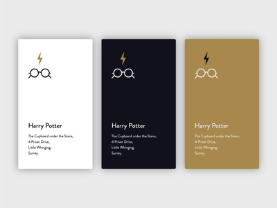 Harry Potter - Minimal Business Card Concept