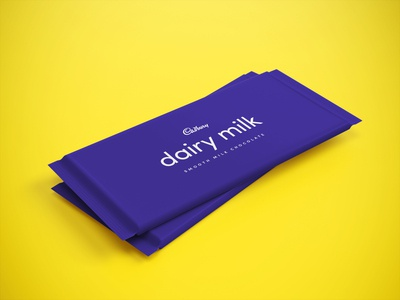 A minimal take on the Dairy Milk Wrapper