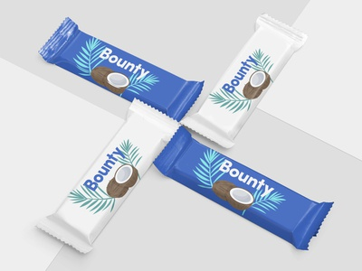 Bounty Packing Concept - My Favourite Chocolate