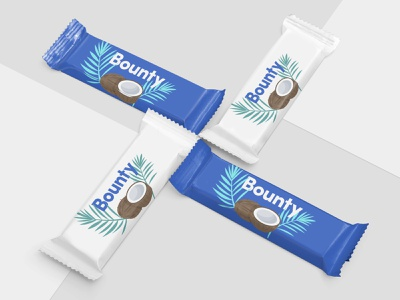 Bounty Packing Concept - My Favourite Chocolate cococunts coconut chocolate packaging chocolate packaging design packagingdesign packaging bounty branding dribbbleweeklywarmup