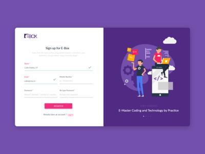 Login Page for E-Box