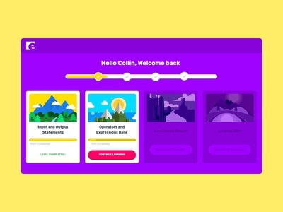 Gamified Learning - UI Concept for kids