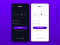 Day 001 ( Sign Up ) - Daily UI Challenge
