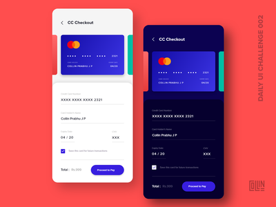Day 002 ( Credit Card Checkout ) - Daily UI Challenge day2 ios app ios iphone x credit card credit card checkout creditcardcheckout checkout process creditcard dailyuichallenge dailyui