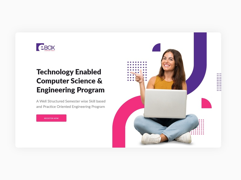 A glimpse of my ongoing work for one of E-Box's offering elearning concept learning education vector ui landing page web design website design website