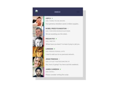 CSS Inbox User Interface